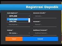 Registrasi Dapodikdasmen : Offline atau Online??? berikut cara yang benar
