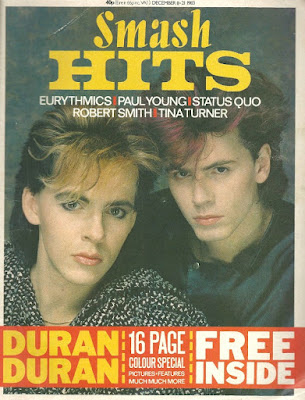 Nick Rhodes and John Taylor Smash Hits Dec 1983