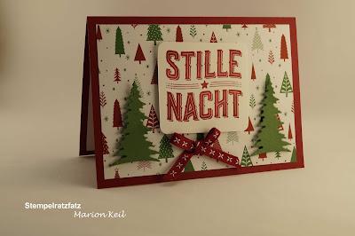 Weihnachtskarte mit Stampin´ Up!