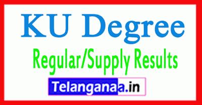KU Degree Regular Supply Results