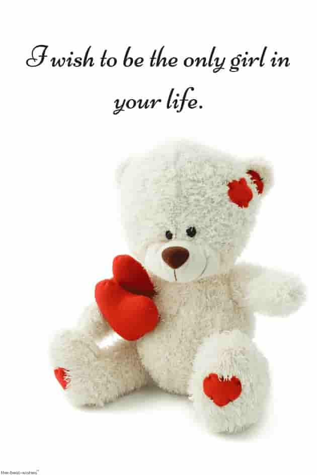short deep love quotes for him from her with teddy bear