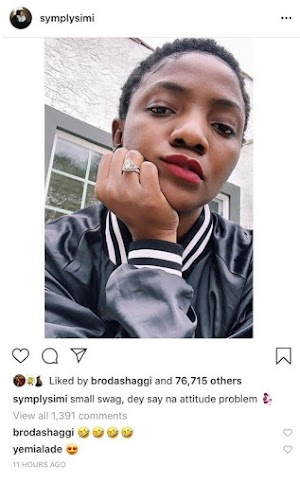 Simi fires back at troll who attacked her for wearing a nose ring.