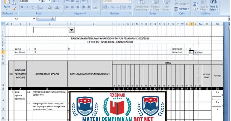 Download Contoh Aplikasi Penilaian Kurikulum 2013 Tk