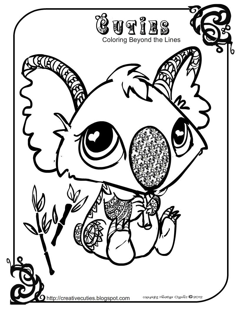 littlest pet shop coloring pages cuties - heather chavez creative cuties animal design
