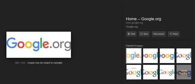 Current Google image search appearance, Google has removed the 'view image' button in their search result