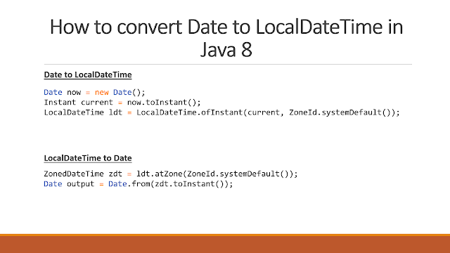 Date to LocalDateTime in Java8 Convert Example
