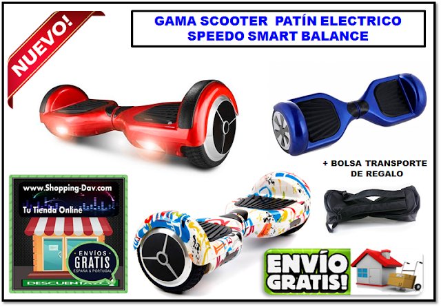 Patín Eléctrico Scooter speedo smart balance disponible en www.shopping-dav.com
