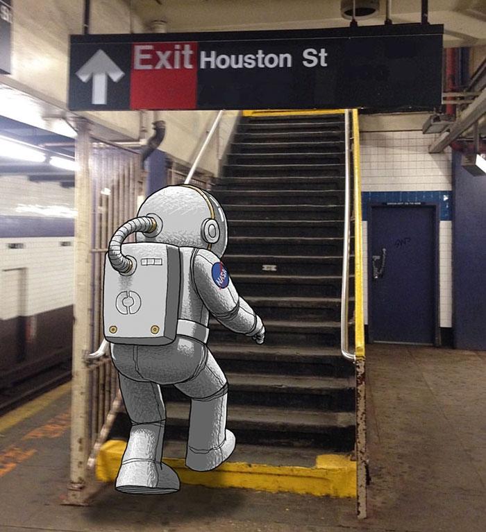 12-Houston-we-have-Touchdown-Digital-Imaginative-Illustrations-Escape-in-the-Real-World-Ben-Rubin-www-designstack-co