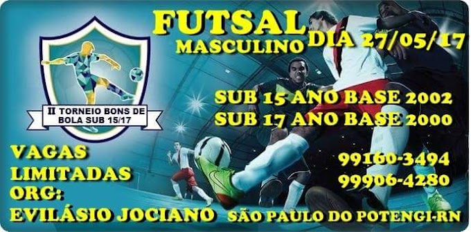 Neste sábado acontece a 2° edição do Torneio Bons de Bola em São Paulo do Potengi