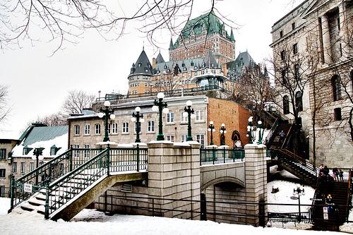 Château Frontenac in Québec City, Canada exterior