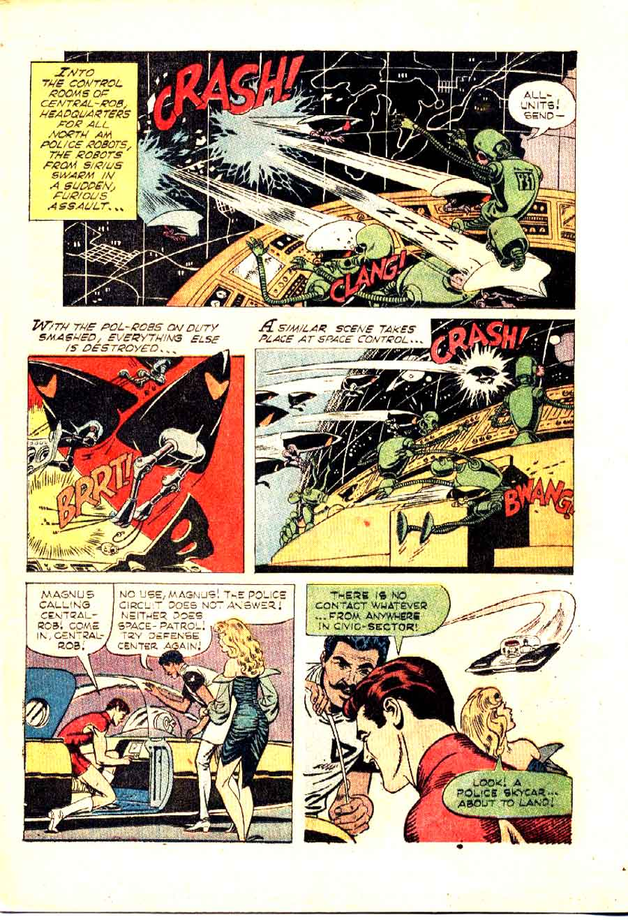 Magnus Robot Fighter v1 #17 gold key silver age 1960s comic book page art by Russ Manning