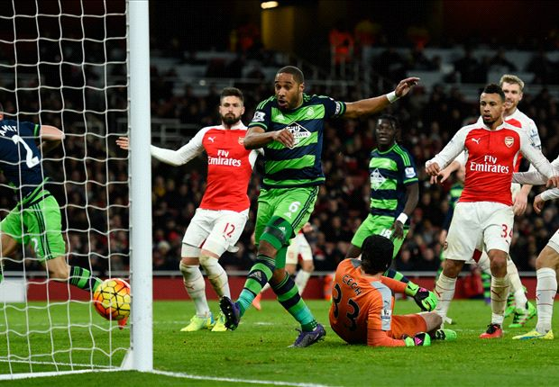Arsenal kiss BPL title goodbye with lose to Swansea Ashley Williams