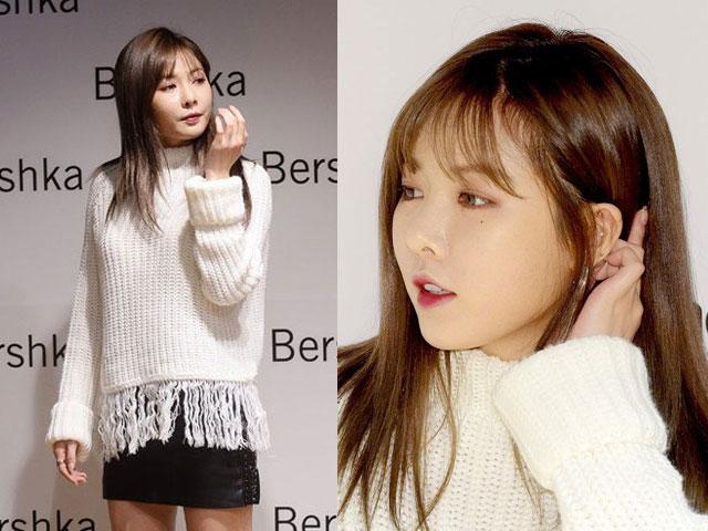 Khuôn mặt tròn xoe vì tăng cân của 'mỹ nữ gợi cảm' Hàn Quốc