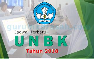 Jadwal UNBK 2018 Terbaru