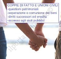 unioni civili coppie di fatto