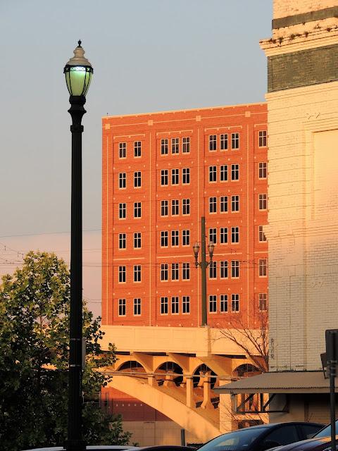 Main Street Bridge and Harris County Jail in Background