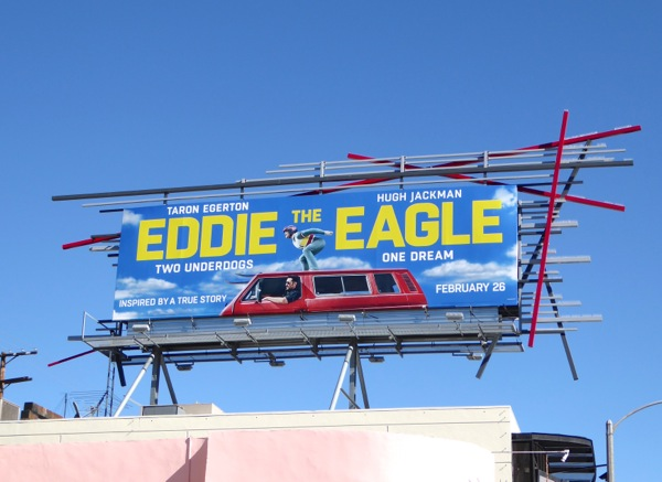 Eddie the Eagle movie billboard