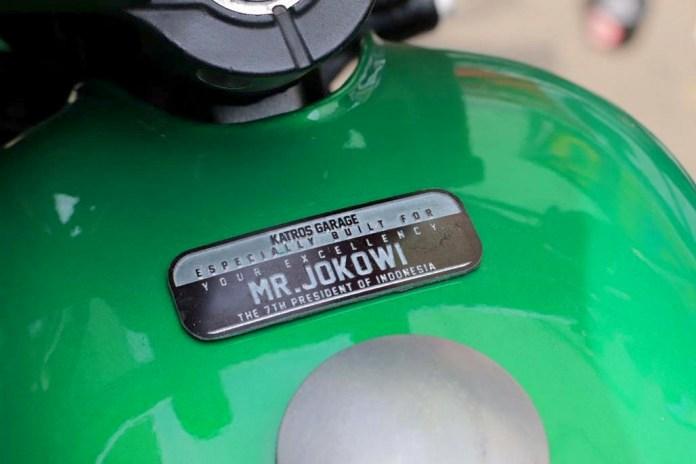 Lebih dekat dengan Motor Custom Terbaru Presiden Jokowi yang digarap oleh Katros Garage