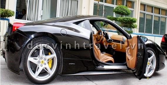 Cho thuê siêu xe cưới Ferrari 458 Italia Đen đời mới 1