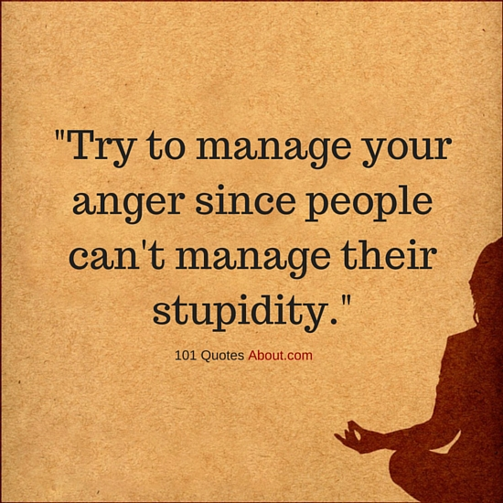 Love And Anger Quotes: Try To Manage Your Anger Since People Can't Manage Their