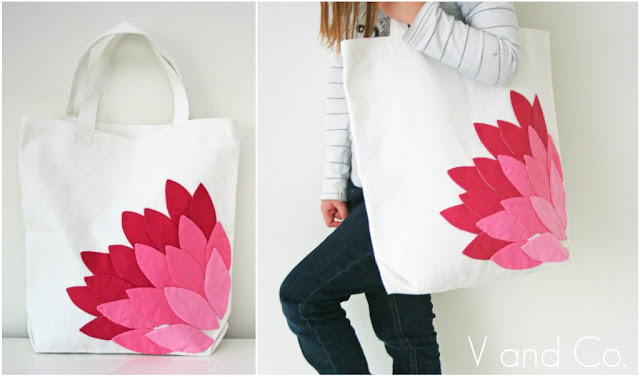 How to applique - make an adorable bag with this step by step tutorial! From Vanessa of V & Co.