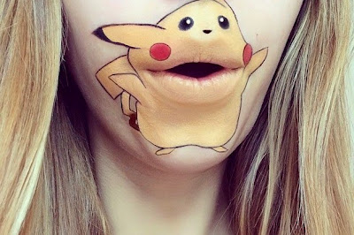 Pokemon cobra vida en el rostro de una mujer