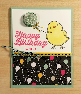 card made with Stampin'UP!'s the chick stamp from Honeycomb Happiness and sentiment from Perfect Pairings Stamp Set