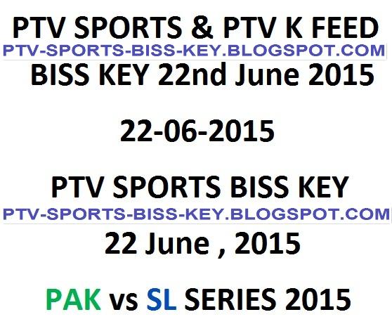 Pakistan vs Sri Lanka 2nd Test PTV Sports Biss Key Code 22 June 2015