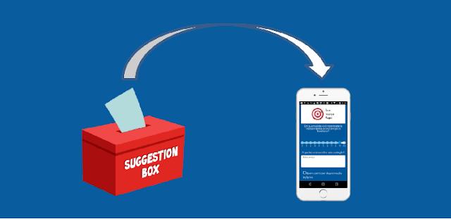 A caixinha de sugestões e reclamações agora é mobile