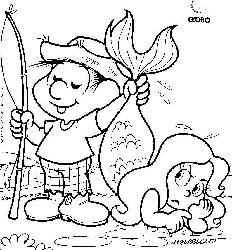 desenhos de personagens do folclore para colorir pintar imprimir