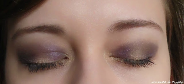 yellow and purple eyes makeup