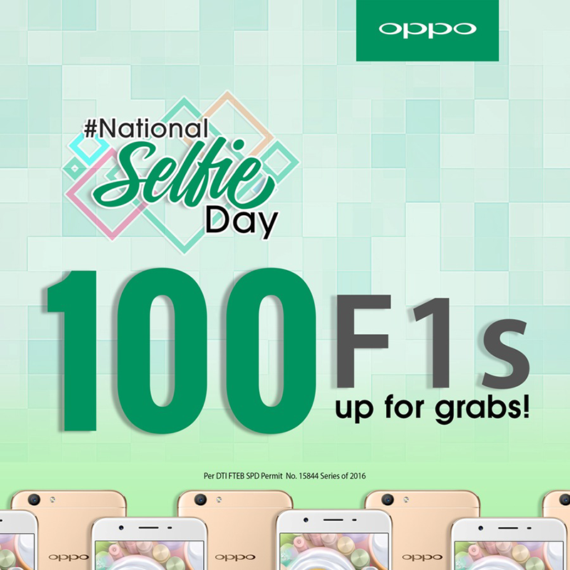 Oppo Is Giving Away 100 Units Of F1s Smartphones For #NationalSelfieDay!