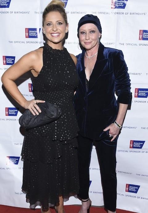 shannen doherty e sarah michelle gellar insieme per l'american cancer society