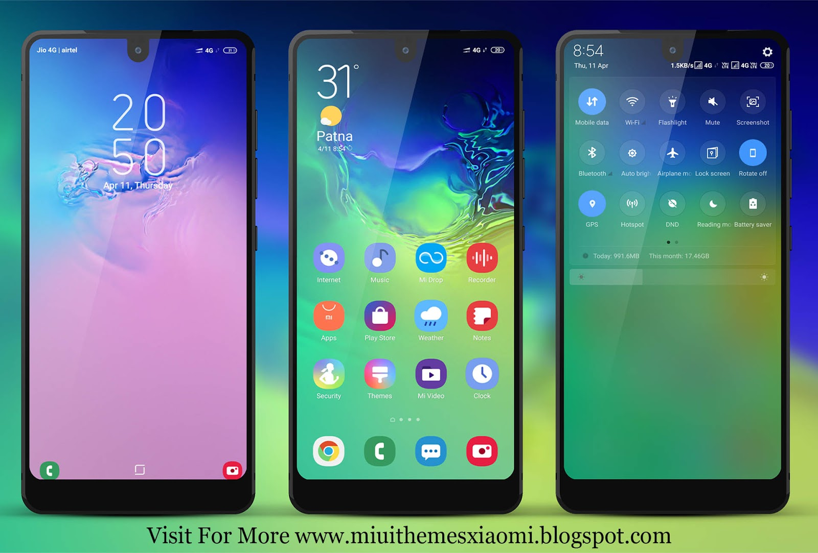 Samsung One UI MIUI Theme Download For Xiaomi Mobile || MIUI