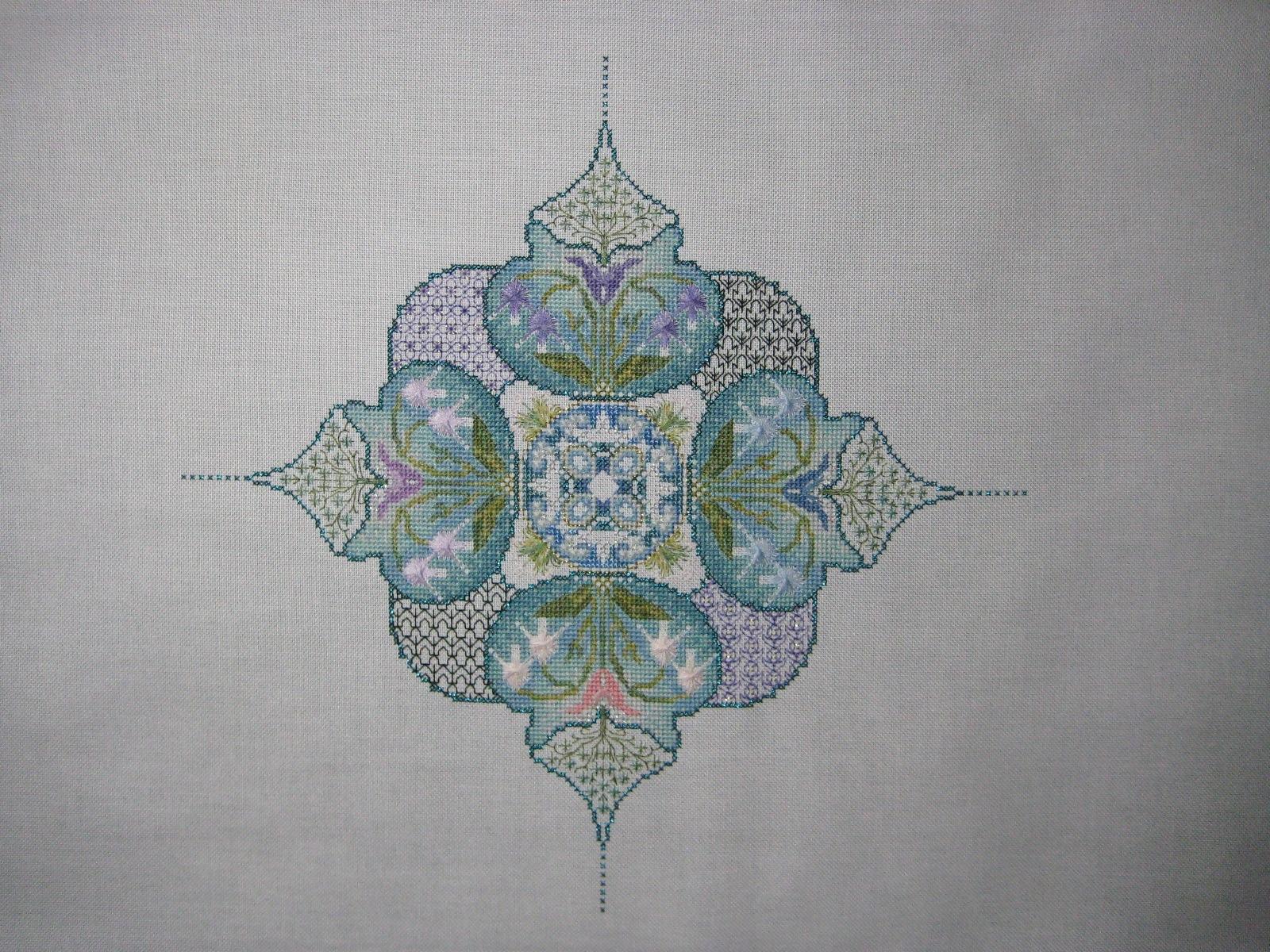 Châtelaine Stitchers Spring Knotgarden Part 3