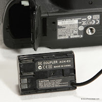 ACK-E2 compatible AC to DC Coupler for Canon Review