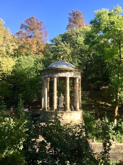 St Bernard's Well from the Dean Gardens, Edinburgh
