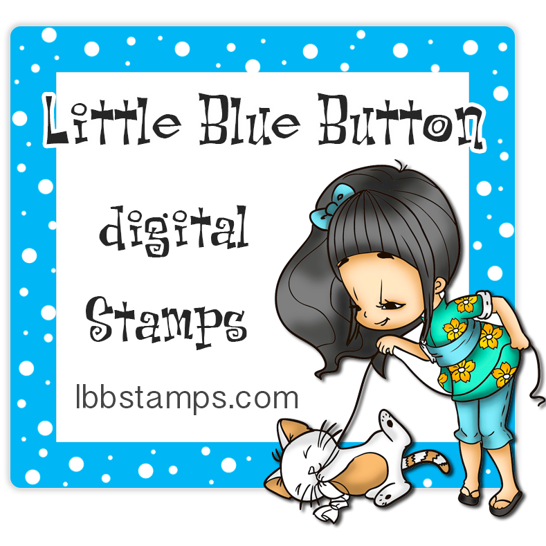 Little Blue Button digital stamps