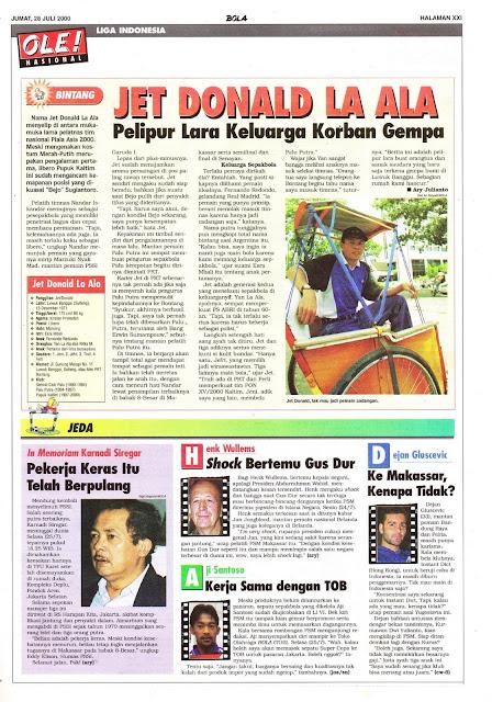 LIGA INDONESIA PROFIL BINTANG JET DONALD LA ALA
