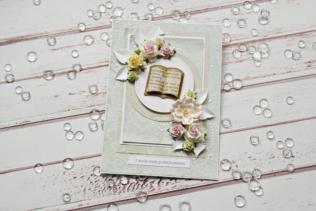 A card with a book