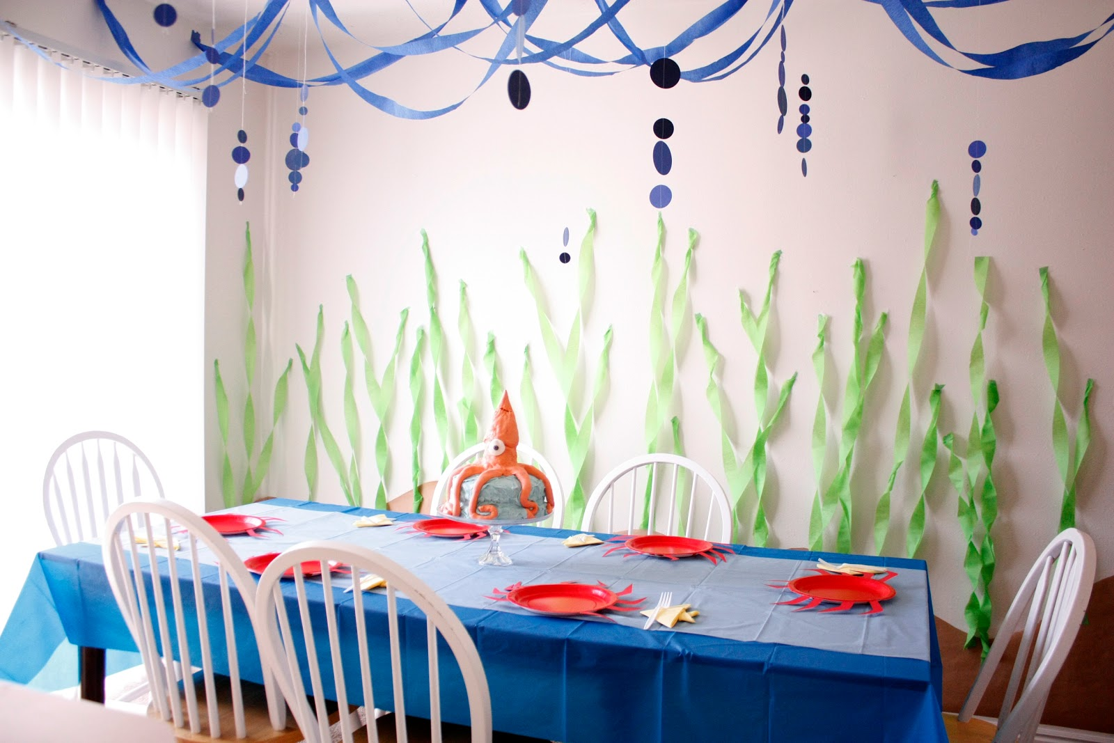 Ocean Inspired Decorating Under The Sea Birthday Party Part Two