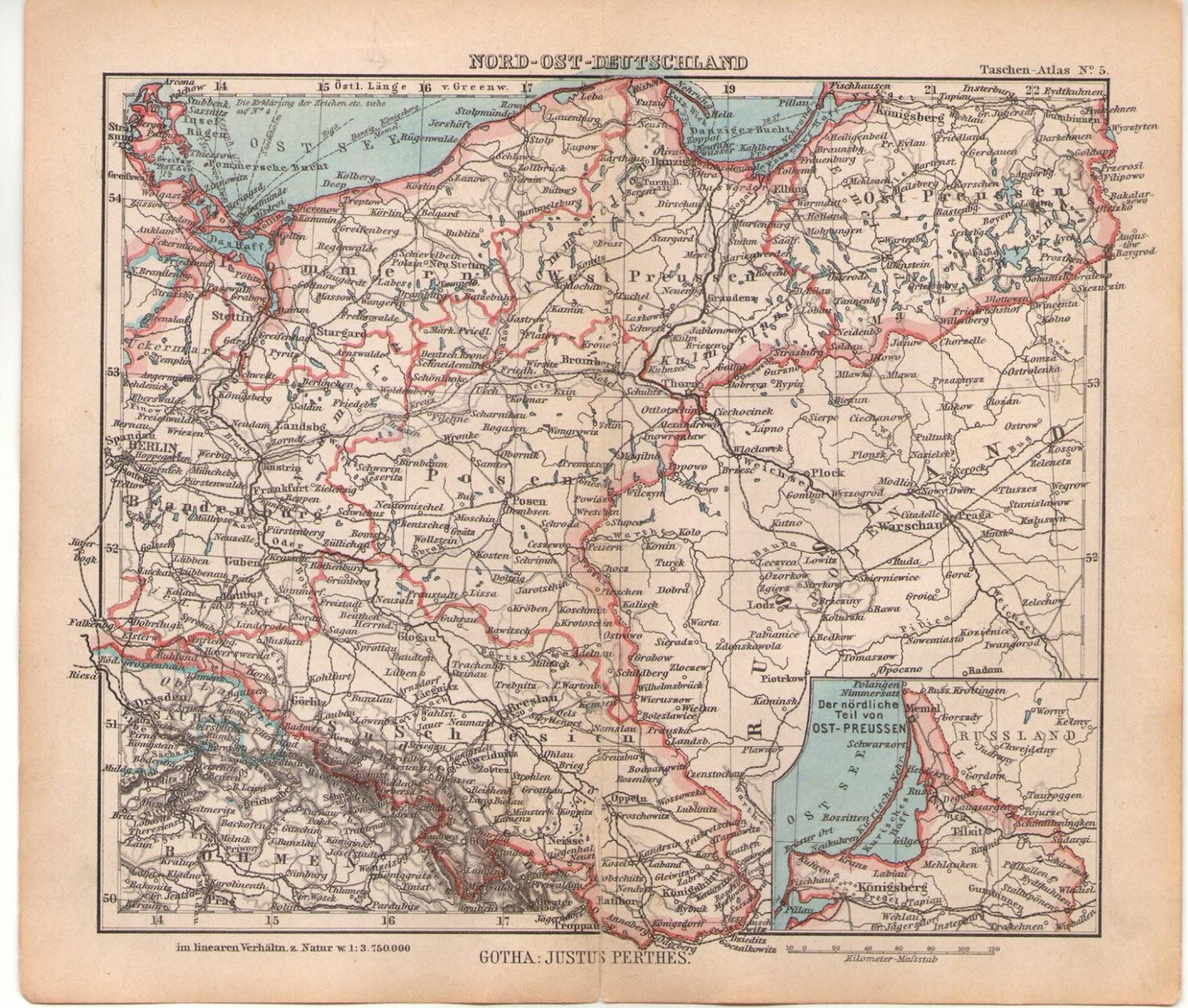 Karte N-O-Deutschland 1940ies Kulmerland
