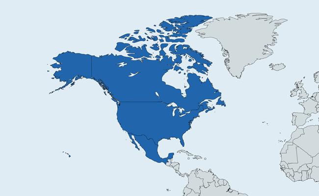 Peta Anggota NAFTA