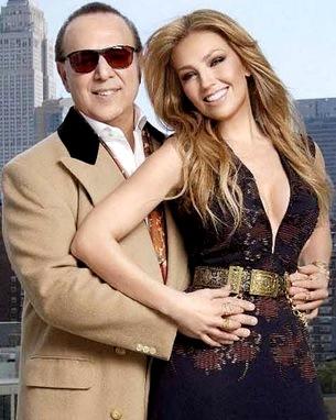 Foto de Thalía con su esposo Tommy Mottola