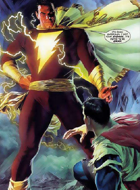 Shazam perdona a Superman