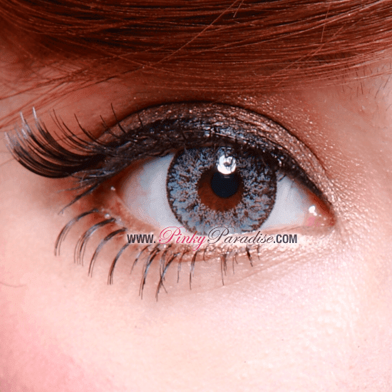 Geo Nudy Grey Circel Lenses (Colored Contacts) Closeup