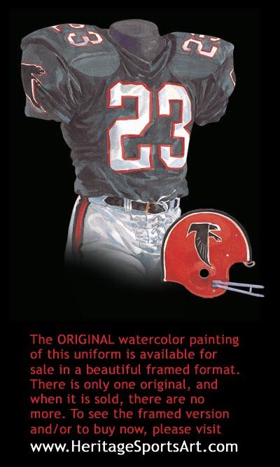 online store 0e4e0 2a2f0 Atlanta Falcons Uniform and Team History   Heritage Uniforms ...
