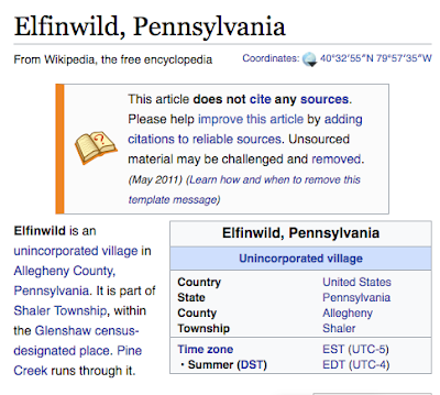 Elfinwild Pa village of Shaler Twp PA