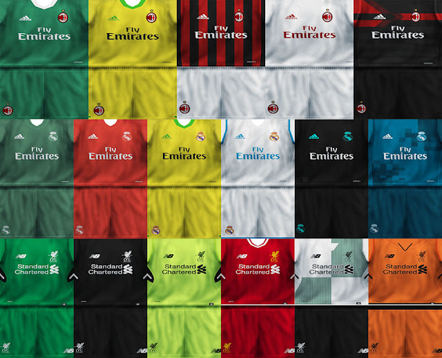 a51a6e70992 ultigamerz: PES 6 AC Milan, Real Madrid & Liverpool 2018 Kits-Pack