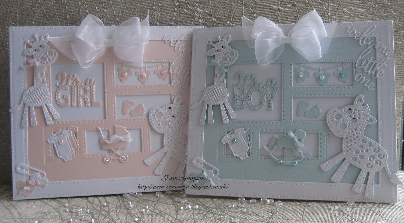 Pamscrafts It S A Boy It S A Girl Framed Cards